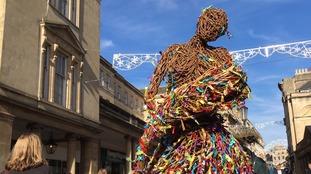 Wicker sculpture