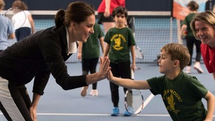 Kate reveals she's teaching Prince George to play tennis...but it's not going so well