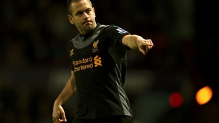 Liverpool goalscorer Joe Cole in action.