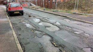 Potholes road in Leeds