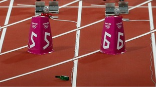 Bottle on Olympic stadium track