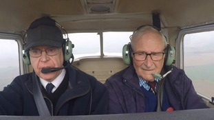 John Hyde, right, has finally learnt to fly.