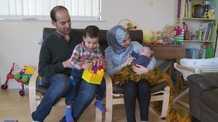 Anas Shoydab and his family
