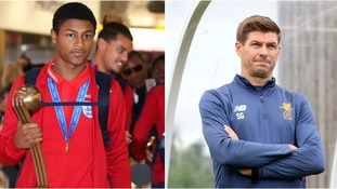 Gerrard warns Brewster to be patient about breaking into Liverpool's first team