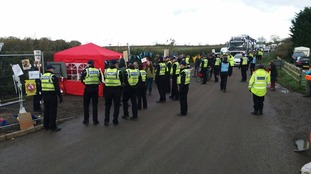 Officers facilitated the peaceful demo