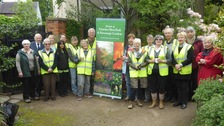 Some of the volunteers who won a gold award last week.