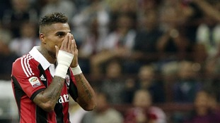 AC Milan player Kevin-Prince Boateng leaves pitch after racist abuse