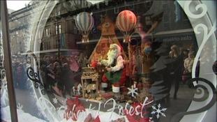 Santa in Fenwick's 2013 display.