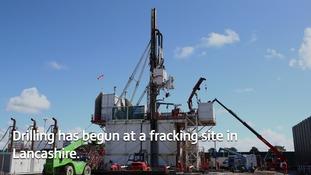 pic of fracking rig