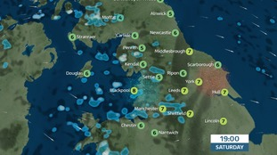 Cold and damp for some on Saturday evening