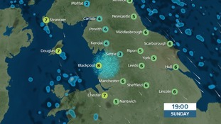 Colder but dry and clear on Sunday evening