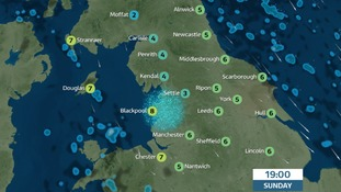 Dry, cold and clear for most areas Sunday evening