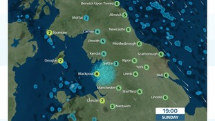 Drier, clearer but colder fro Sunday evening. Light breeze