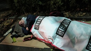 Volunteers 'sleep rough' to raise money for homeless