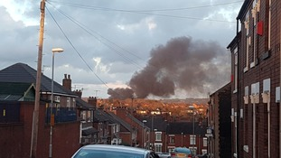 Three fire engines tackle large fire in Stoke-on-Trent