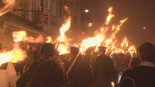 Tens of thousands attend Lewes bonfire despite efforts to curb numbers