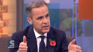 Mark Carney said the UK economy was still being hampered by Brexit.
