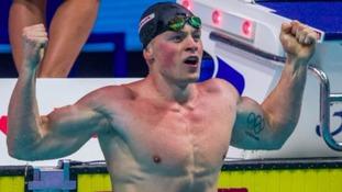 Adam Peaty in the pool
