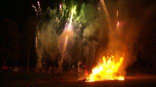 2,000 fireworks were set off.