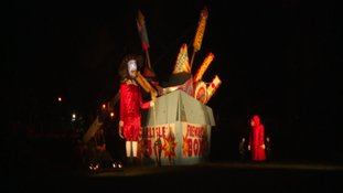 A 25-foot Guy Fawkes model.