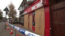 The incident happened at a Post Office in Lutterworth.