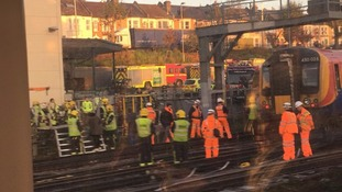 Hundreds evacuated and four people injured after train derails near to Wimbledon