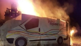 Devon community burns BT effigy to protest broadband speed
