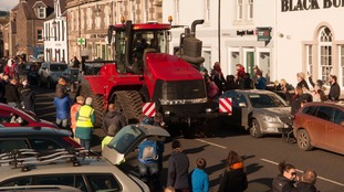 More than 150 tractors take to the streets of Lauder