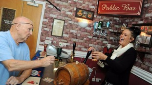 Care home turns room into a 1960s-style pub