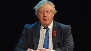Foreign Secretary Boris Johnson gives evidence to the Commons Foreign Affairs Committee at Portcullis House, London.