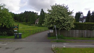 Streetview of the Pinetrees Cattery where fire crews are tackling the blaze