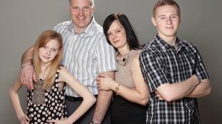 Helen Edgar with her family