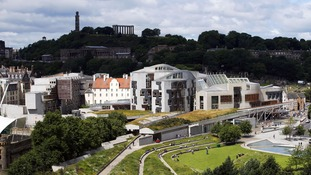 Scottish Parliament in Edinburgh.
