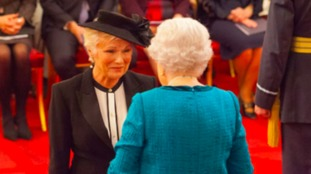 Julie Walters pictured with the Queen