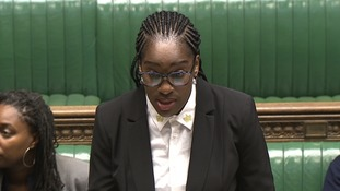 Labour's Kate Osamor had questions for Ms Patel, but the minister was away on business