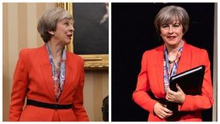 Real and wax Theresa May