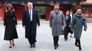 Melania and Donald Trump with Xi Jinping and wife  Peng Liyuan