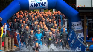Almost 10,000 swimmers take part each year