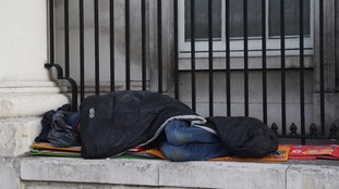 London's homelessness rate vastly outstrips the rest of the UK.