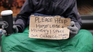 The number of homeless people in Britain is growing.