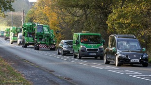 Firm pays touching tribute at crane fanatic's funeral