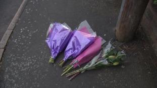 Tributes left at the scene in Birmingham