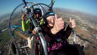 Local woman takes to the sky to celebrate 90th birthday