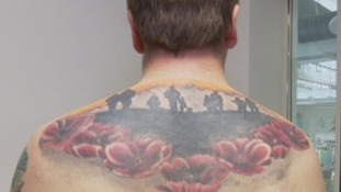 Poppy tattoo marine's moving tribute to his fallen comrades