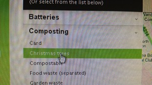 Go online to recycle Christmas trees.