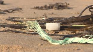 Straws on beach