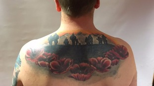 Royal Marine's touching poppy tribute to fallen comrades