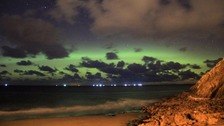 Aurora over Peel, Isle of Man (Tuesday 7th November 2017, between18:15 and 20:00)