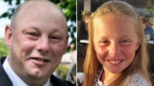 Tearful girl, 13, pays tribute in court to 'superhero' father and 'star' sister