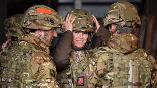 Ms Mordaunt (centre) previously served as Armed Forces Minister.